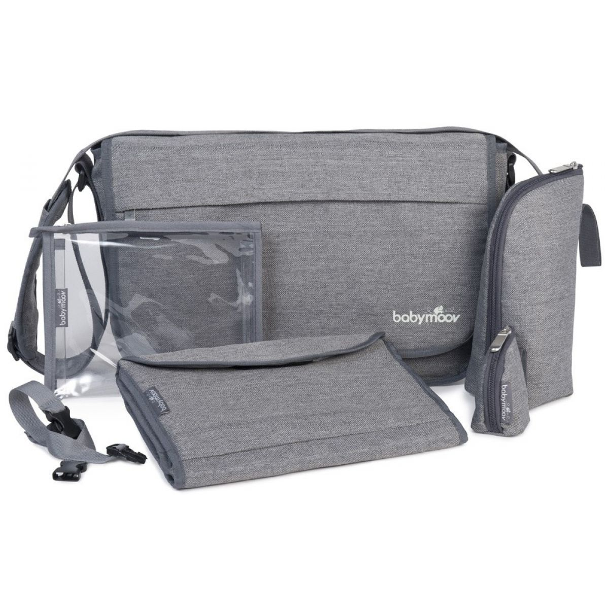 Babymoov Messenger Bag Smokey sivá