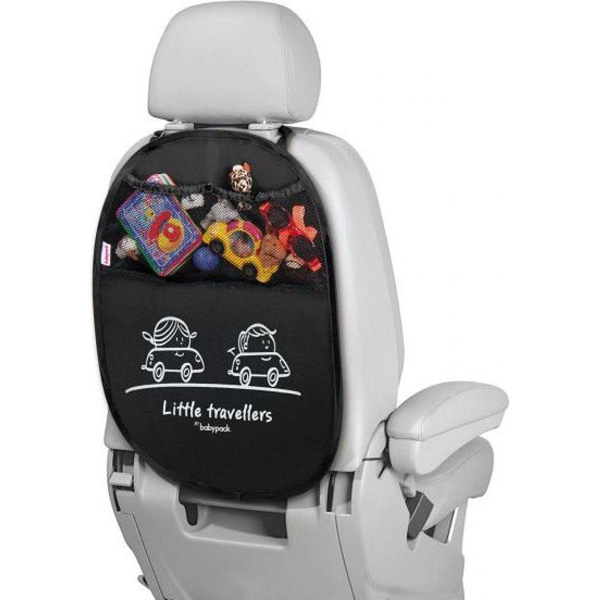 Babypack Organizer a ochrana autosedadla, čierny