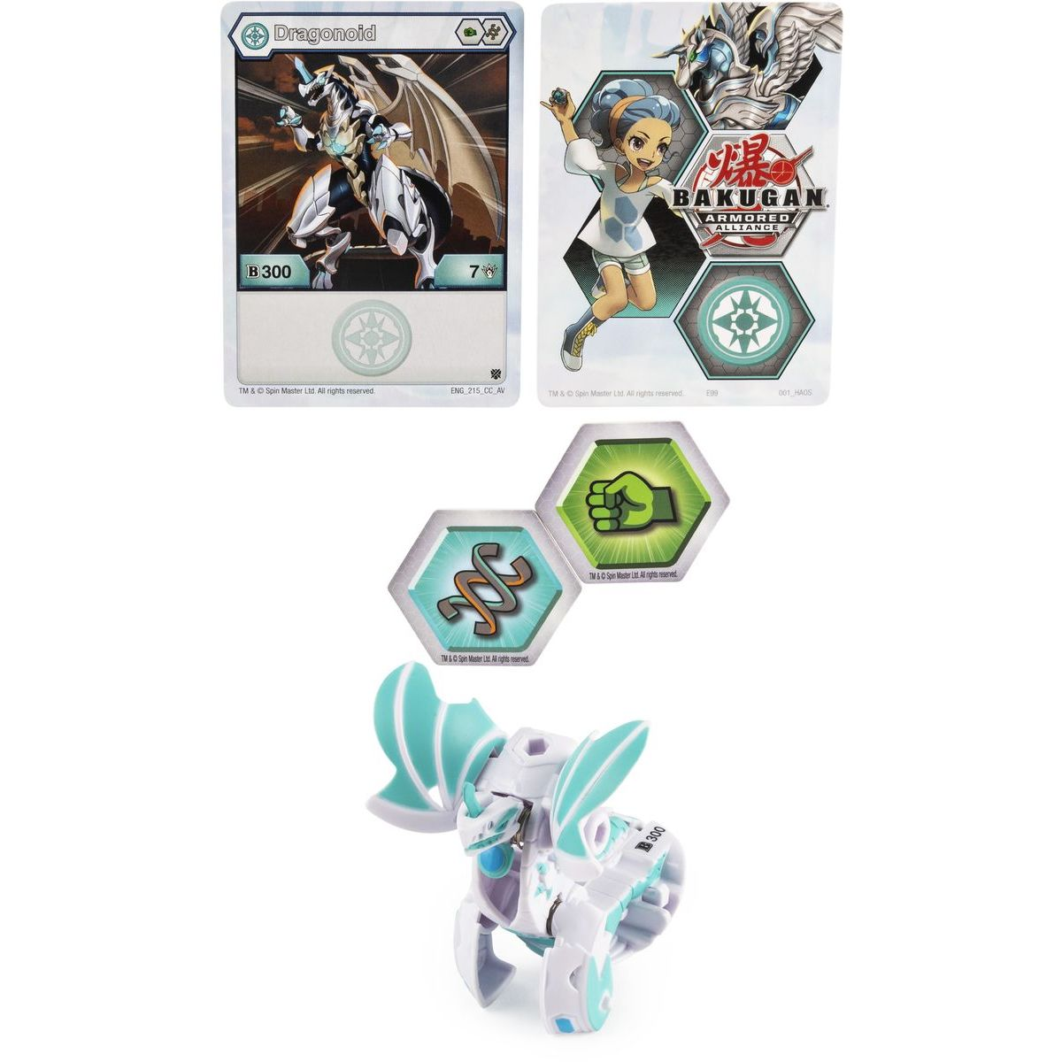 Bakugan základné balenie s2 Dragonoid biely