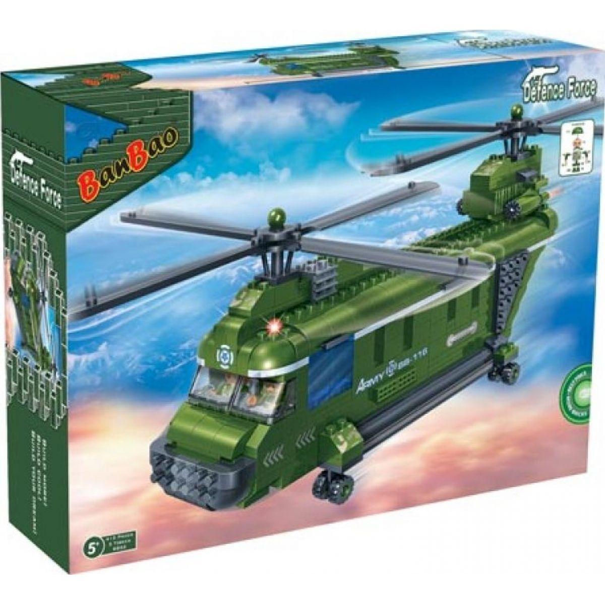 Mikro Trading Stavebnica BanBao Armáda 8852 Vojenský vrtulník