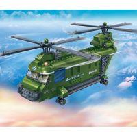 Mikro Trading Stavebnica BanBao Armáda 8852 Vojenský vrtulník 3