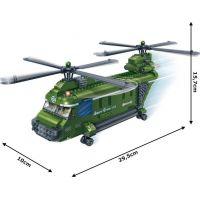 Mikro Trading Stavebnica BanBao Armáda 8852 Vojenský vrtulník 4