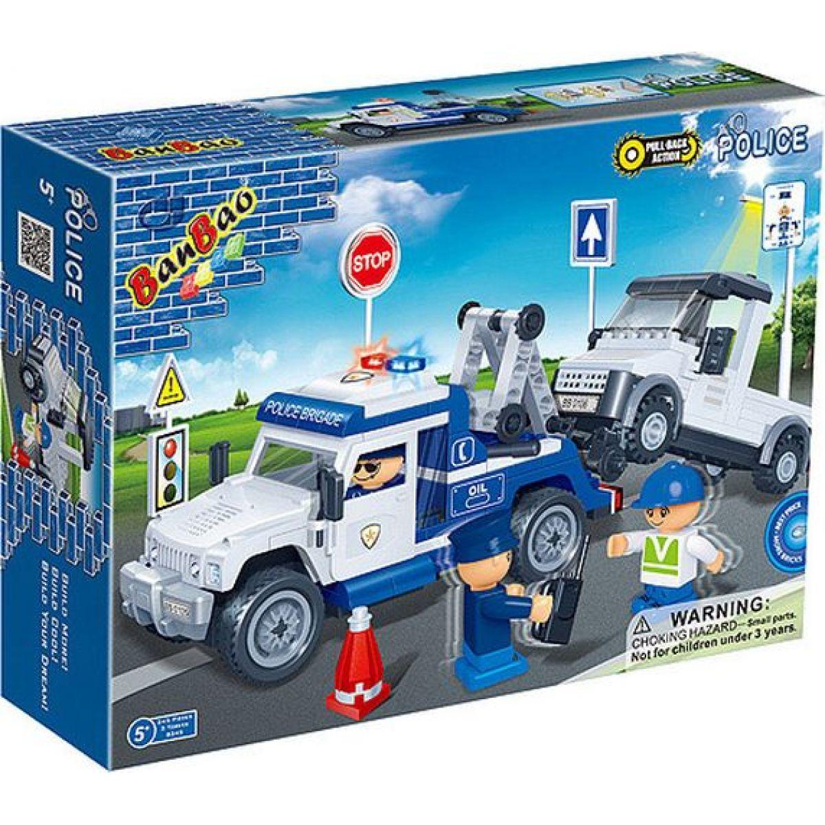 Mikro Trading Stavebnica BanBao Policie 8345 Policejní odtahovka
