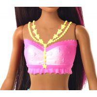 Barbie svietiaca morská panna s pohyblivým chvostom černoška 5