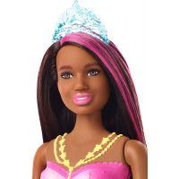 Barbie svietiaca morská panna s pohyblivým chvostom černoška 4