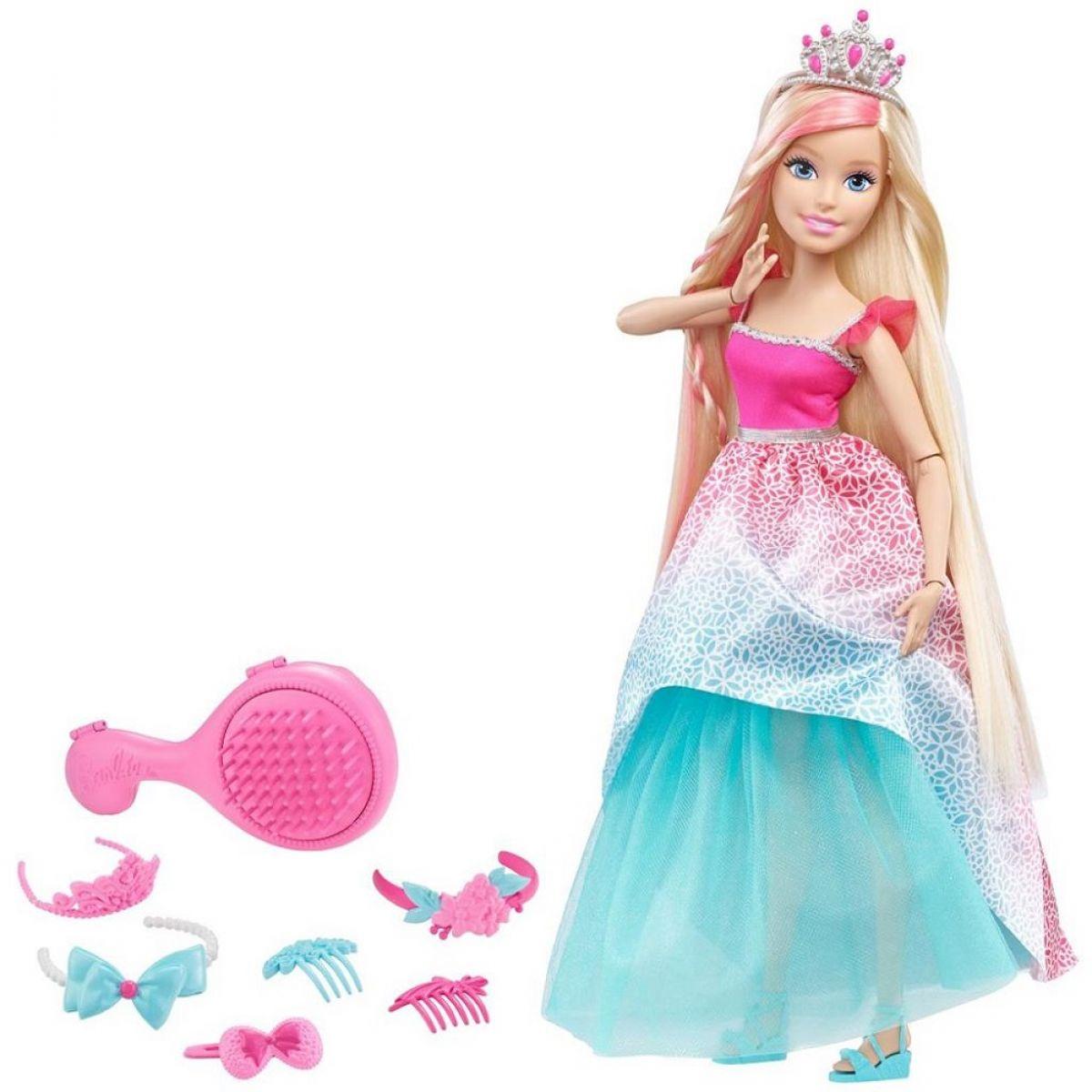 MATTEL Barbie Princezna Blondýnka s dlouhými vlasy 43 cm