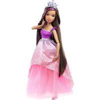 Barbie Vysoká princezná s dlhými vlasmi brunetka 2