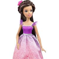 Barbie Vysoká princezná s dlhými vlasmi brunetka 3