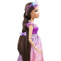 Barbie Vysoká princezná s dlhými vlasmi brunetka 4