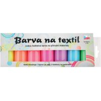 Barvy na textil světlý, sada svítící ve tmě 7 x 15 g + šablony