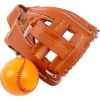 Baseballová rukavica s loptičkou 17 x 21 cm