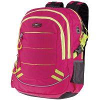 Easyoffice Batoh školský športový Ružový so žltým lemom