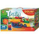 BAUER Stavebnica Train Vláčiky 340 dielov 2