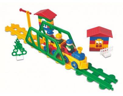 BAUER Stavebnica Train Vláčiky 95 dielov