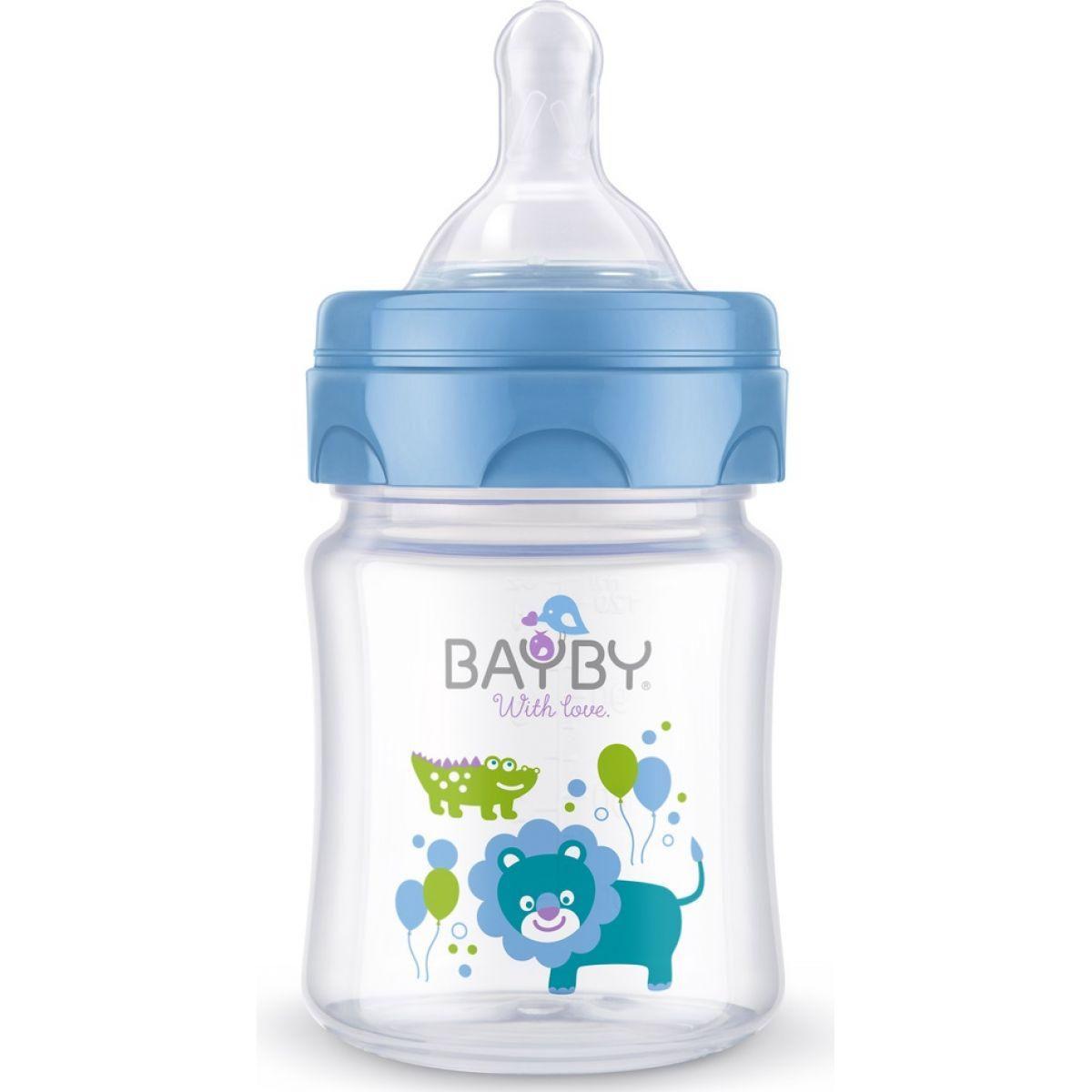 BAYBY Dojčenská fľaša 120ml modrá