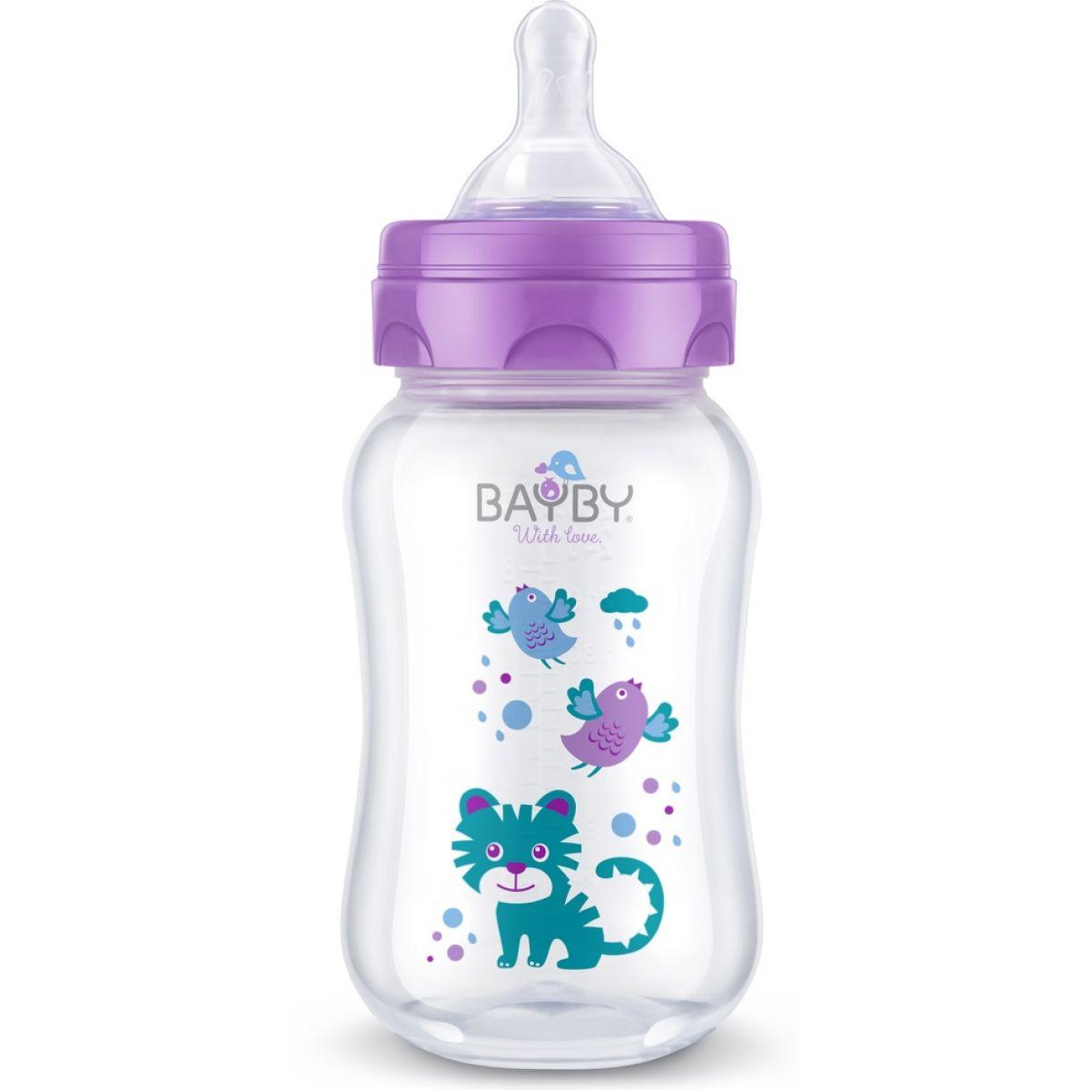 BAYBY Dojčenská fľaša 250ml fialová