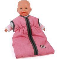 Bayer Chic Spací vak pre bábiku ružový s tmavým lemom