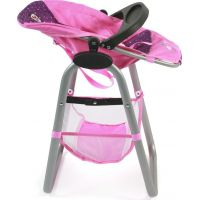 Bayer Chic Jídelní židlička pro panenku Dots Navy Pink 2