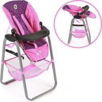 Bayer Chic Jídelní židlička pro panenku Dots Navy Pink 3
