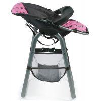 Bayer Chic Jídelní židlička pro panenku Hvězdičky šedivé 2