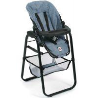 Bayer Chic Jídelní židlička pro panenku Jeans modrá