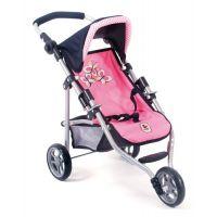 Bayer Chic Kočík pre panenky Lola Pink Checker