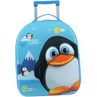 Bayer Chic Látkový kufrík s kolieskami tučniak