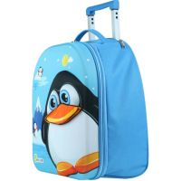 Bayer Chic Látkový kufrík s kolieskami tučniak 2