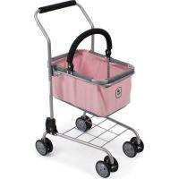 Bayer Chic Nákupný vozík s košíkom Melange Roze