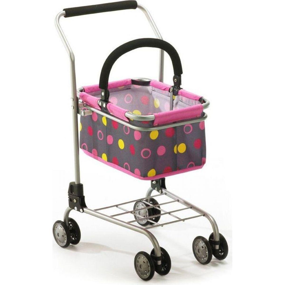 Bayer Chic Nákupní vozík s košíkem Pinky Balls