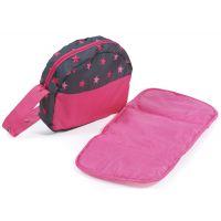 Bayer Chic Přebalovací taška ke kočárku Hot pink pearls