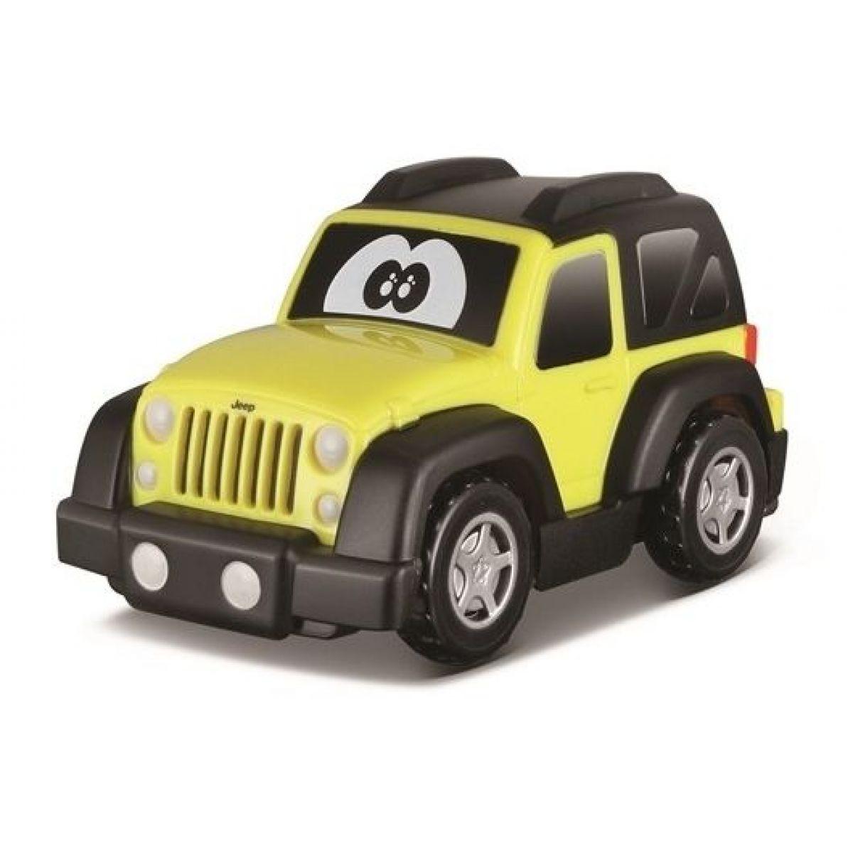 Bburago Jeep plastové autíčko žltý