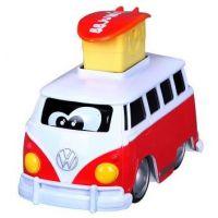 Bburago junior VW transporter stlač a cestuj červený