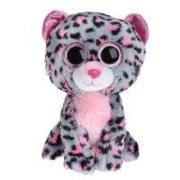TY Beanie Boos Tasha ružovo šedý leopard 24 cm