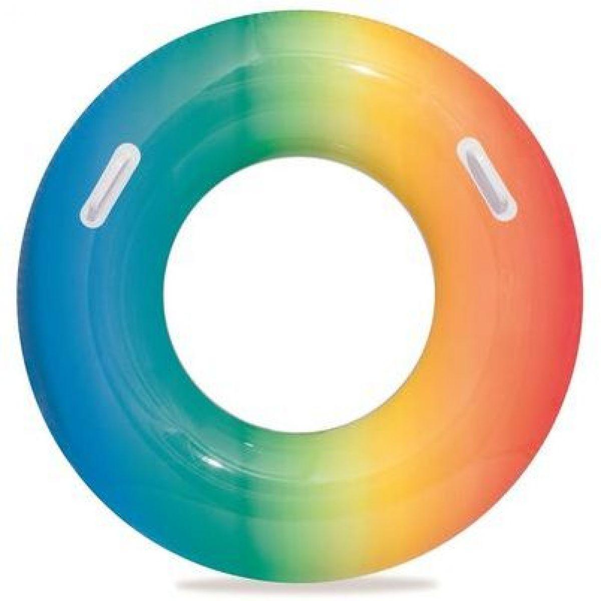 Bestway Nafukovací kruh dúhový 91 cm modro-oranžový