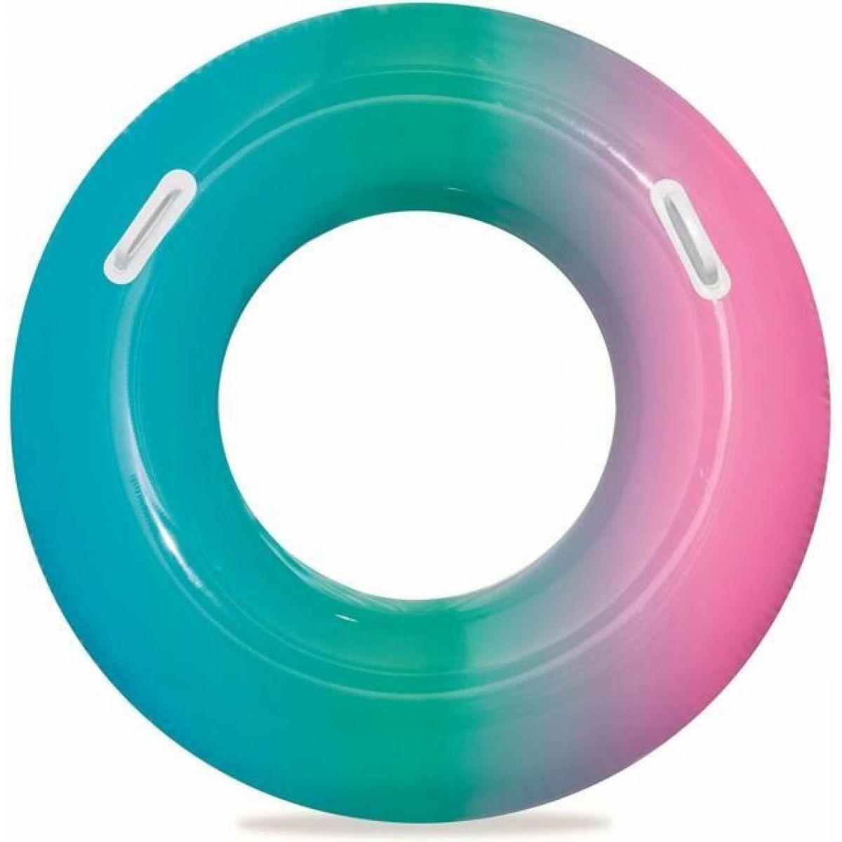 Bestway Nafukovací kruh dúhový 91 cm zeleno-ružový