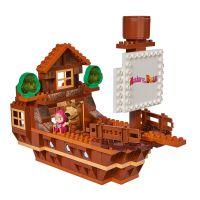 PlayBIG BLOXX Máša a Medveď Medvedia loď