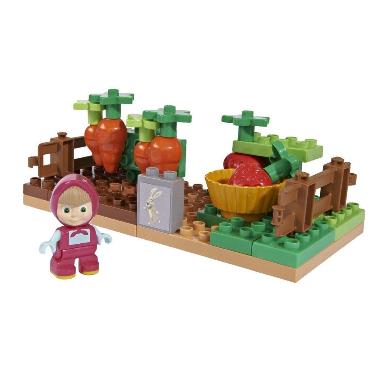 PlayBIG Bloxx Máša a medveď Mášina záhrada