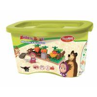 PlayBIG Bloxx Máša a medveď Mášina záhrada 2