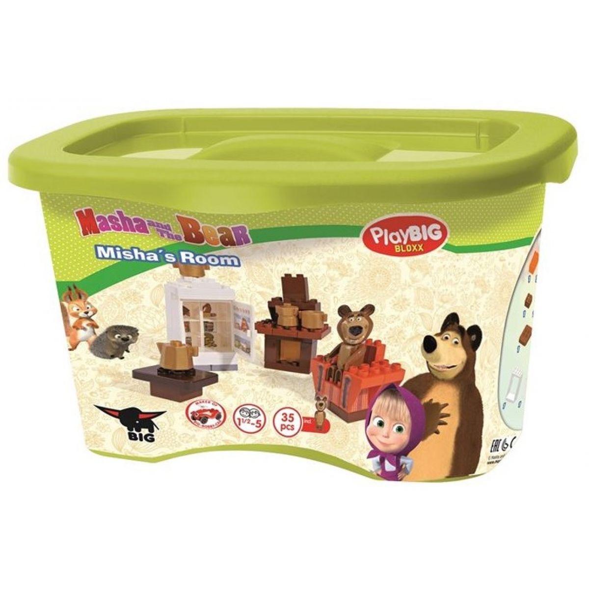 PlayBIG Bloxx Máša a medveď v izbe