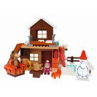 PlayBIG Bloxx Máša a medvěd Míšův zimní dům 3