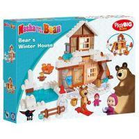 PlayBIG Bloxx Máša a medvěd Míšův zimní dům 5
