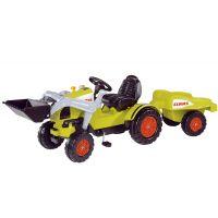 Big Šlapací traktor Claas s lyžicou a vozíkom