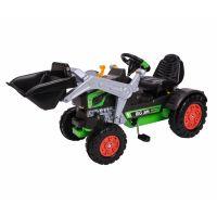 Big Šlapací traktor Jim Turbo s lyžicou a zvukovým volantom
