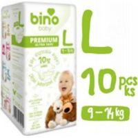 Bino Baby Premium Pleny vel. L 9-14kg 6x10 ks s dárkem