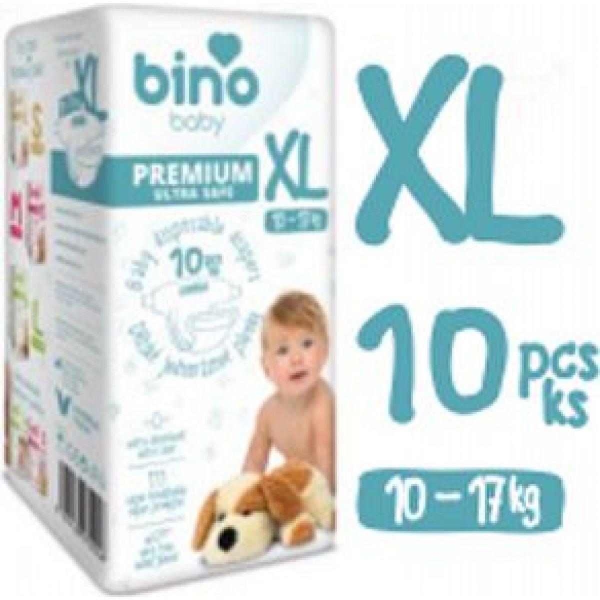 Bino Baby Premium Plienky veľ. XL 10-17kg 6x10 ks s darčekom