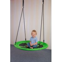 Bino Detská hojdacia kruhová rohož zelená 2