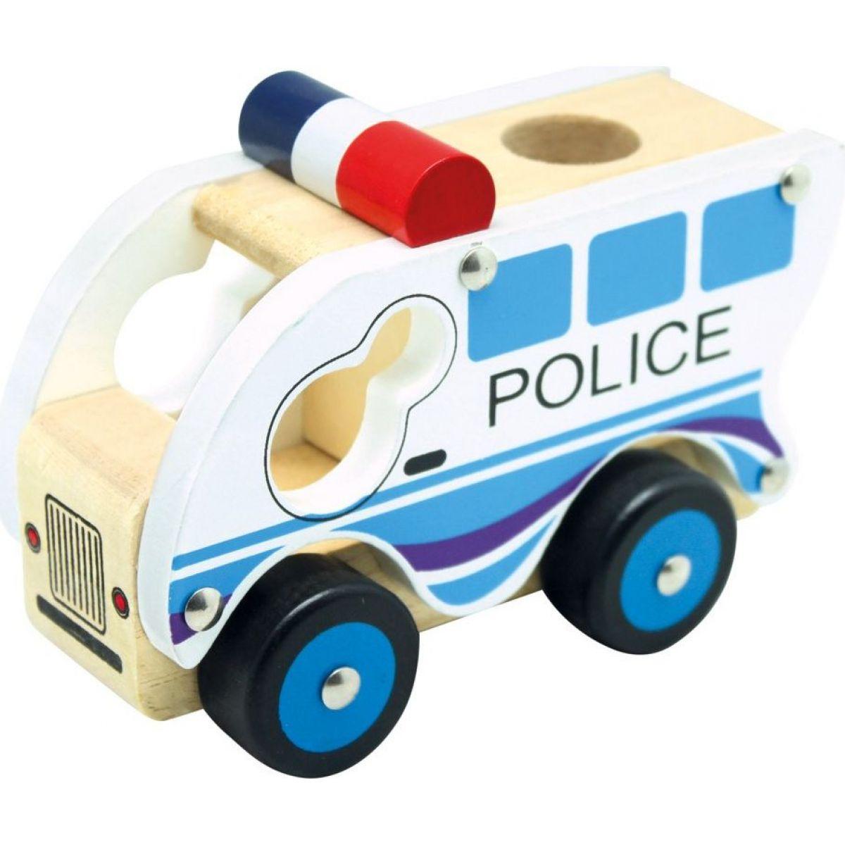 Bino Drevené auto polície