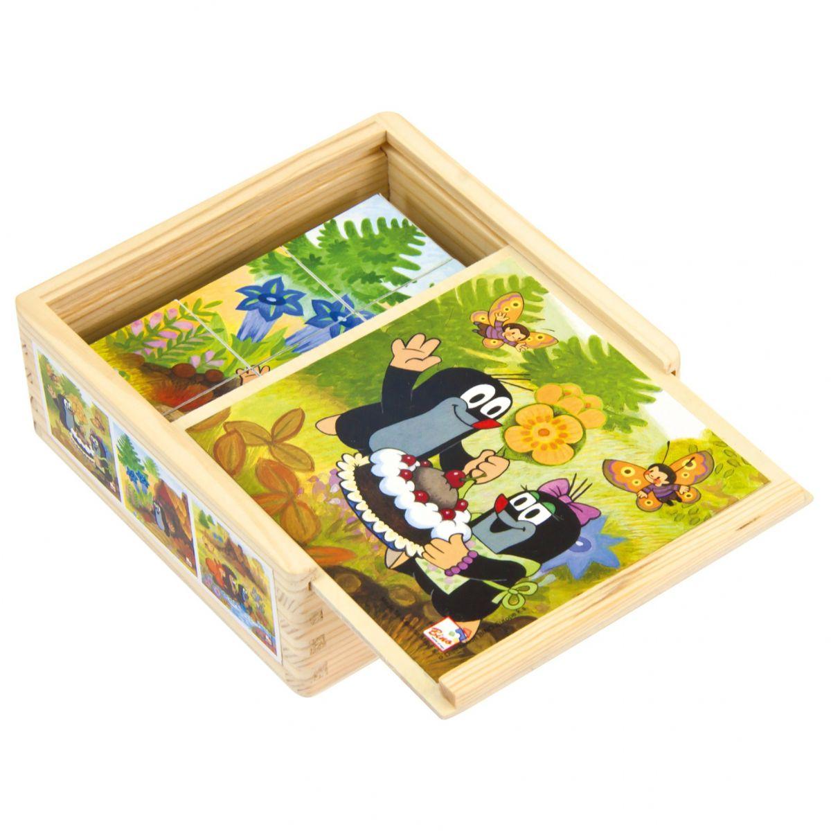 Bino kocky Pani Krtková v krabičke 9 kusov - Poškodedný obal