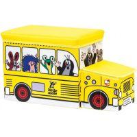 Bino Krtko krabica na hračky bus